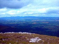 View towards the Comeragh Mountains.